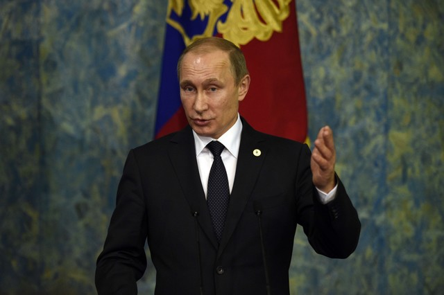 El presidente ruso, Vladimir Putin, en la cumbre del clima en París.