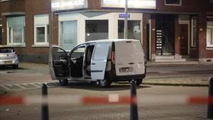 La furgoneta con matrícula española localizada por la policía, en Rotterdam, el 23 de agosto.