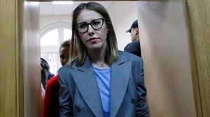 La presentadora y candidata Ksenia Sobchak.