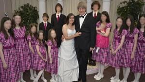 La familia Turpin, en Las Vegas, donde acudieron para que los padres renovaran los votos matrimoniales.