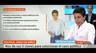 Un nen deixa bocabadada la taula política d''Espejo Público'