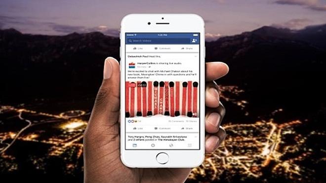 Facebook lanza Audio Live para retransmisión audio en directo.