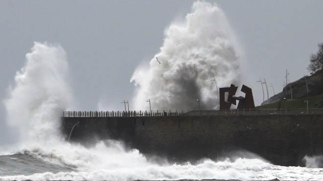 El temporal golpea con fuerza en el norte del país.