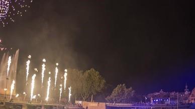 El piromusical de las fiestas de la Merc�, el pasado septiembre, con fuegos artificiales de Pirotecnia Igual.
