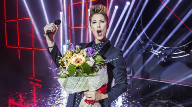 Leklein, tras ganar su pase a 'Objetivo Eurovisión', la gran final de TVE-1 para el Festival de Eurovisión.