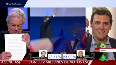 Rivera desmiente a Nart en directo y niega su encuentro con Macron