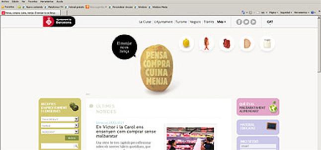 El Ayuntamiento de Barcelona crea una web para concienciar sobre el derroche de comida