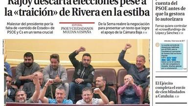 L''Abc' ja amenaça amb eleccions anticipades; <br>'La Razón' assegura que Rajoy les descarta