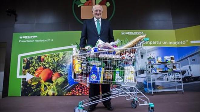 Presidente 8 Juan Roig, durante la presentaci�n de resultados de la empresa en el 2014.