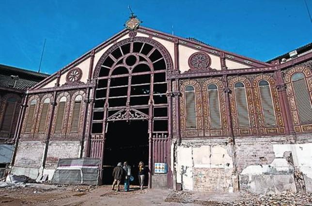 El mercado de sant antoni afronta el grueso de la reforma - Calle manso barcelona ...