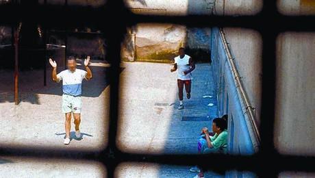 Nàpols 8 Un pati de la presó de Poggioreale, on segueix ingressat Óscar Sánchez.