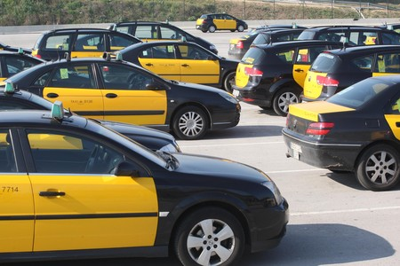 Taxis en El Prat. 
