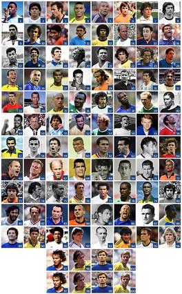 Los 100 mejores futbolistas de la historia de los mundiales seg 250 n