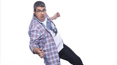 El humorista Florentino Fern�ndez, en una imagen promocional del 'show' de A-3 'Me resbala'.
