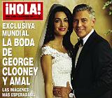 La revista '�Hola!' ofrece este mi�rcoles un especial de 40 p�ginas de la boda de Clooney.