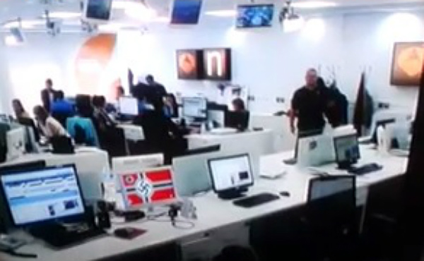 Un monitor de la redacci�n de Antena 3 mostr� s�mbolos nazis correspondientes a un reportaje de 'Jugones' (La Sexta).