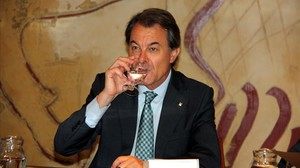 El presidente de la Generalitat, Artur Mas, en una reunión del Consell Executiu.