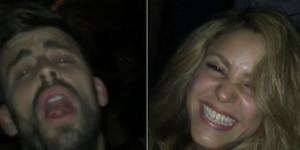 Piqué i Shakira, en un moment de la festa blaugrana, en un vídeo que el jugador ha penjat a Instagram.