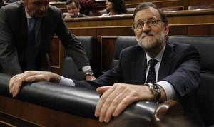 El presidente del Gobierno en funciones, Mariano Rajoy, en el Congreso de los Diputados.