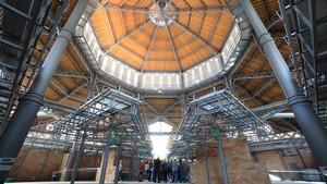 Interior del Mercat de Sant Antoni con motivo del Open House Barcelona