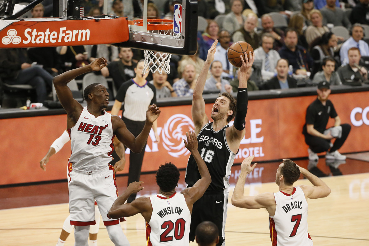 NBA: Miami Heat at San Antonio Spurs
