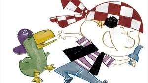 Ilustración de A latac, de Agustín Comotto.