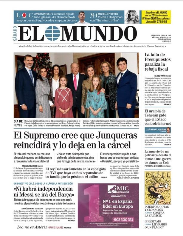 Prensa Hoy En Madrid Jalean Al Supremo En Barcelona