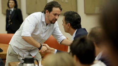 Sánchez s'acosta a Iglesias i intenta atraure Rivera