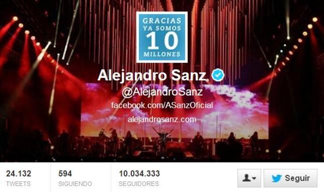 Alejandro Sanz y Andr�s Iniesta, las celebridades espa�olas m�s seguidas en Twitter