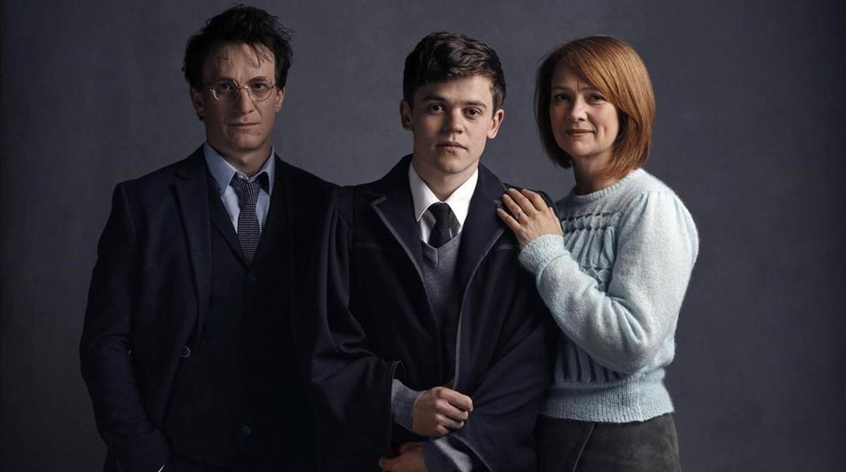 La familia Potter, en la obra de teatro que se estrena el pr�ximo mes de julio.