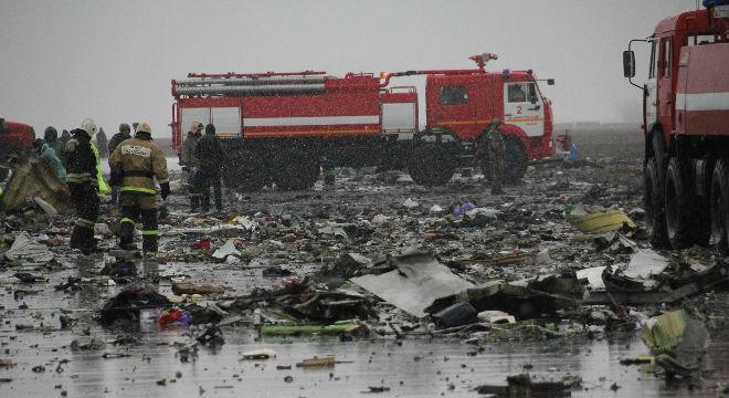Im�genes del momento en que se estrella el avi�n en el aeropuerto Rostov-na-Don, en el sur de Rusia.