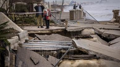 El último coletazo del temporal se come las playas de la Comunitat Valenciana