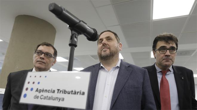 Junqueras inaugura en Barcelona una de las 15 nuevas oficinas de la Agència Tributària de Catalunya