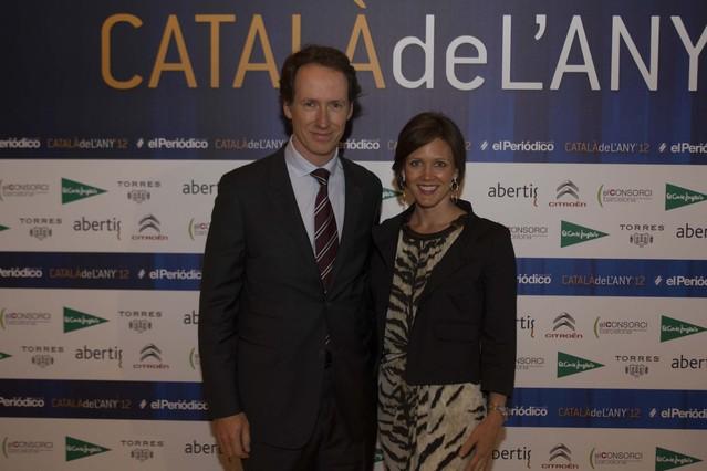Miquel Torres, director general del Grupo Torres, acompañado por su esposa, Sarah Andrews.