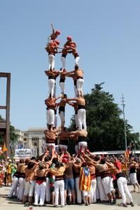 Los 'castellers' llevan el derecho a decidir de los catalanes por Europa