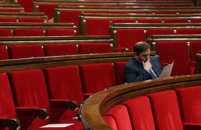Junqueras, nombrado oficialmente jefe de la oposición en el Parlament