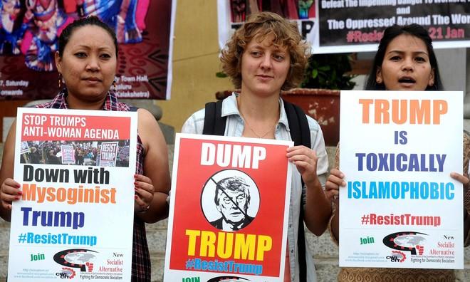 Protest against Trump in India