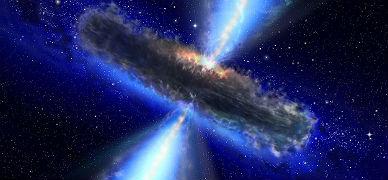 Recreaci�n de un agujero negro, fen�meno que se formar�a alrededor de las ondas gravitacionales.