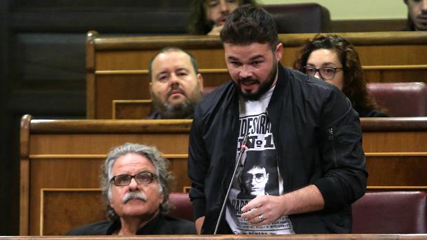"""Rufián (ERC): """"Catalunya vol recuperar el país que li van robar fa 80 anys"""""""