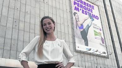 """Saray López: """"Vaig somiar que un dia la meva foto penjaria d'aquesta façana"""""""