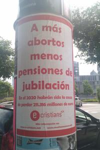 Un cartel de la campaña contra el aborto de E-cristians.