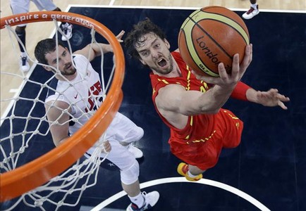 Pau Gasol, durante la final olmpica de los Juegos de Londres, Espaa-EEUU