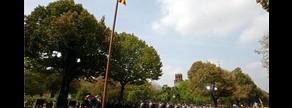 Acto institucional de la Diada en el parque de la Ciutadella, en el 2004.