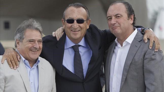 Alfonso Rus, Carlos Fabra y Joaquín Ripoll.