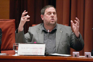 Oriol Junqueras en la comisión de Economía