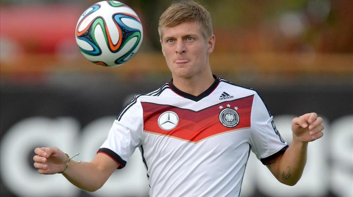 Toni Kroos, durante un partido con la selección de Alemania