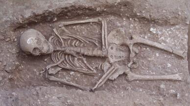 Trobada una nova necròpolis romana durant unes obres a la Sagrera