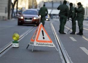 Control de policía en Rusia.