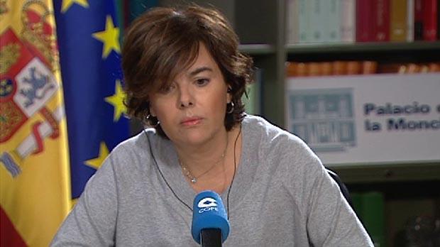 Sáenz de Santamaría: Esa declaración de independencia no tendrá ningún efecto y el Gobierno tomará todas las medidas necesarias.