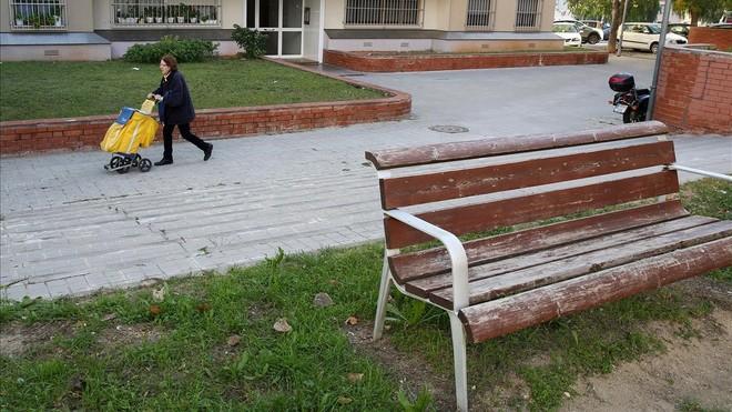 Lugar en el que murió un hombre golpeado en Sabadell